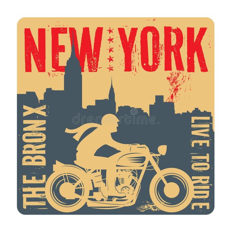 Cyklist som rider en motorcykel royaltyfri illustrationer