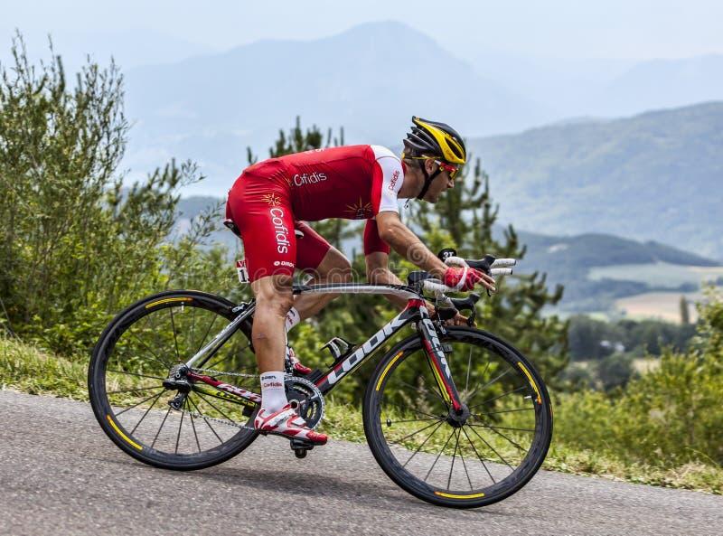 Cyklista Christophe Le Mevel obraz stock