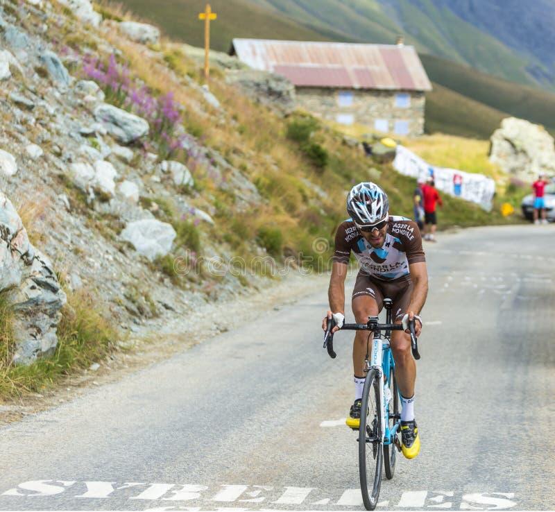 Cyklista Christophe Riblon - tour de france 2015 zdjęcie royalty free