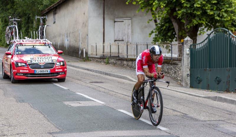 Cyklista Daniel Navarro, Criterium Du Dauphine 2017 - fotografia royalty free