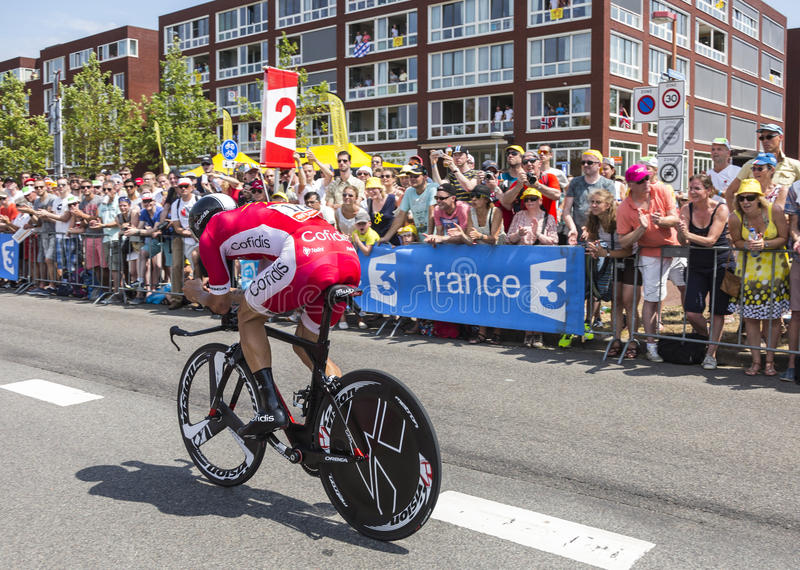 Cyklista Geoffrey Soupe - tour de france 2015 obrazy royalty free