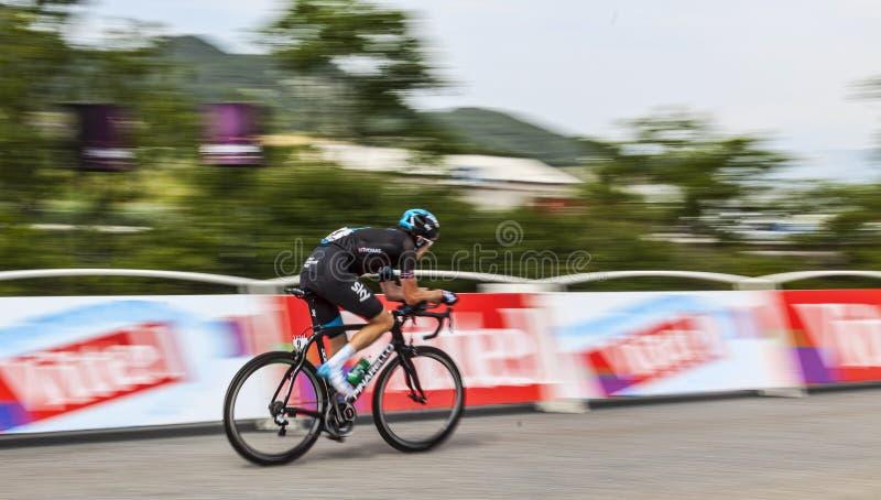 Cyklista Geraint Howell Thomas zdjęcia stock