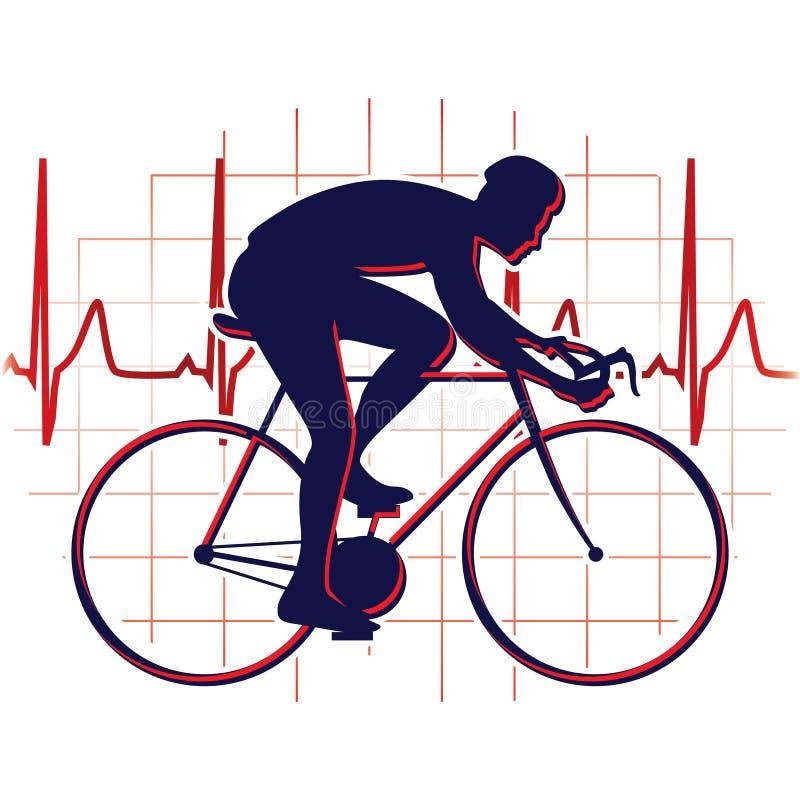 cyklista ikona royalty ilustracja