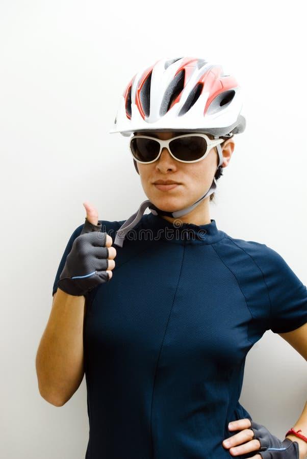 cyklista kobieta obrazy stock