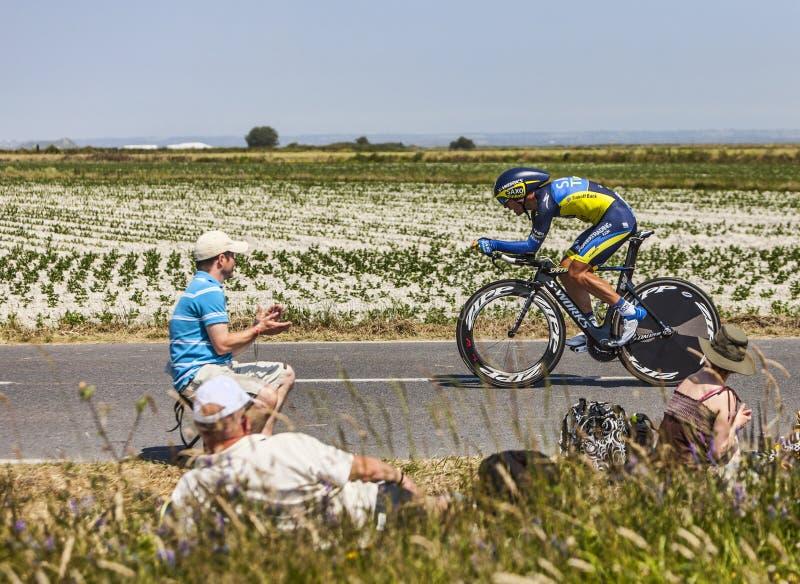 Download Cyklista Sergio Paulinho zdjęcie stock editorial. Obraz złożonej z rower - 33890368
