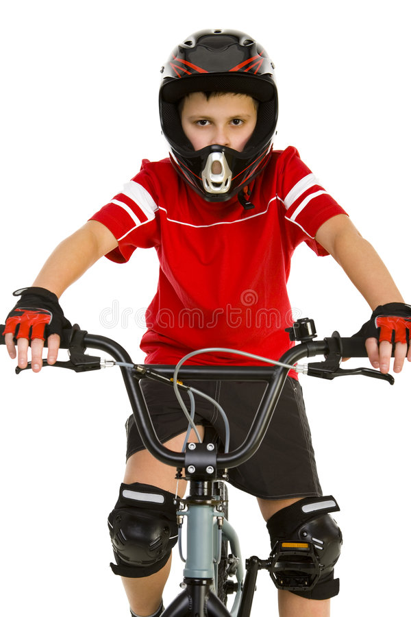 cyklistbarn royaltyfri bild