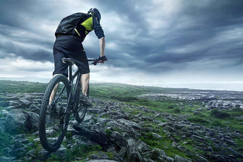 Cyklisten royaltyfri fotografi