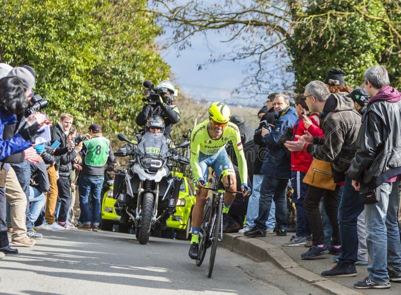 Cyklisten Alberto Contador - Paris-Nice 2016 royaltyfri foto