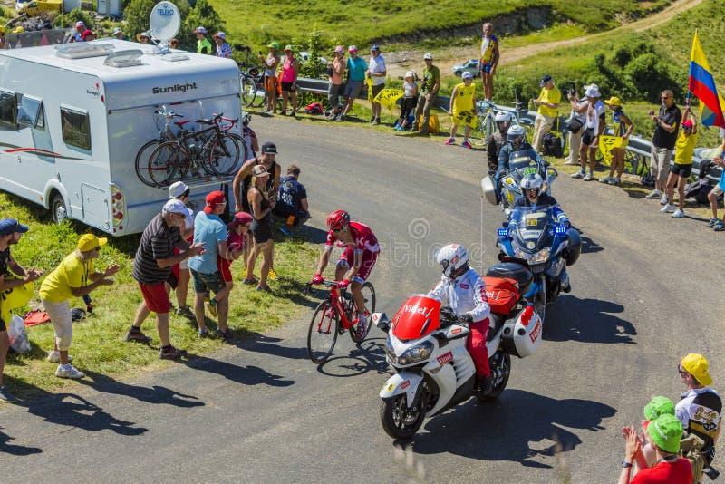 Cyklisten Alberto Losada - Tour de France 2016 royaltyfria bilder