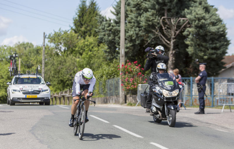 Cyklisten Edvald Boasson Hagen - Kriterium du Dauphine 2017 arkivbilder