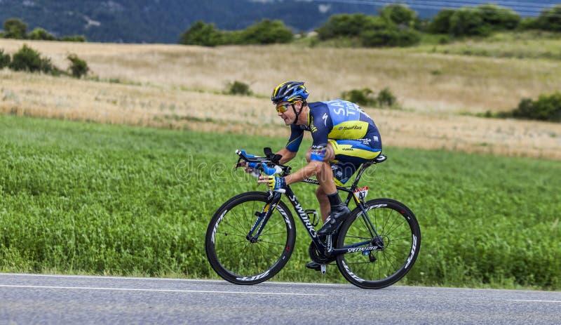 Cyklisten Nicolas Roche royaltyfri fotografi