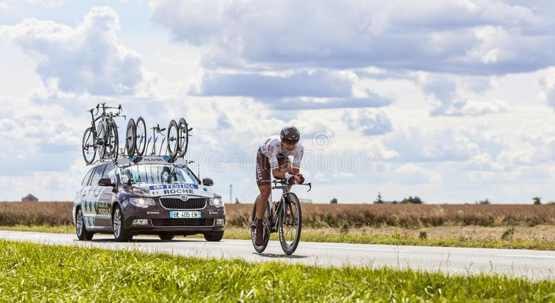 Cyklisten Nicolas Roche royaltyfri foto