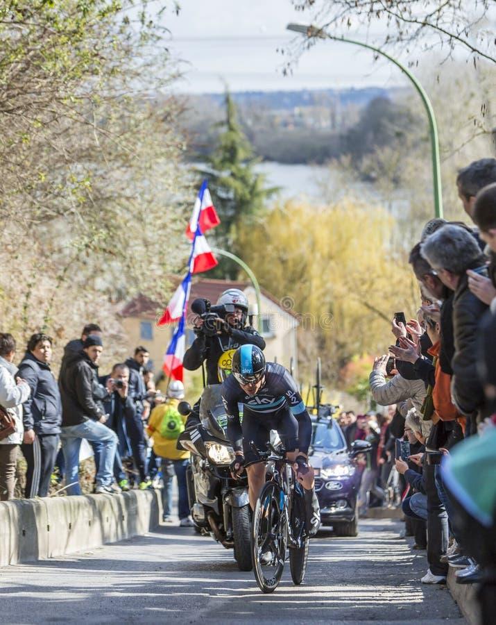 Cyklisten Nicolas Roche - Paris-Nice 2016 fotografering för bildbyråer