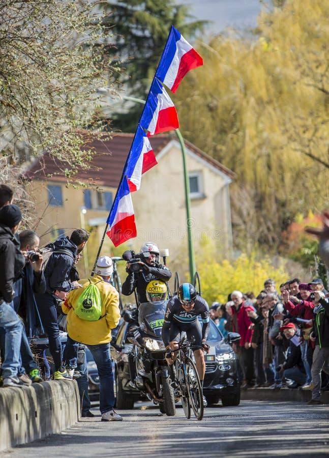 Cyklisten Nicolas Roche - Paris-Nice 2016 arkivbilder