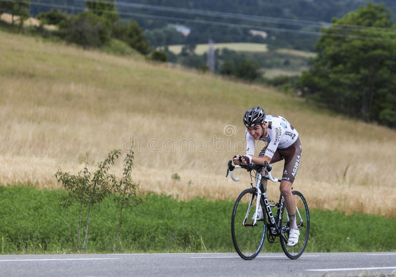 Cyklisten Romain Bardet royaltyfria bilder