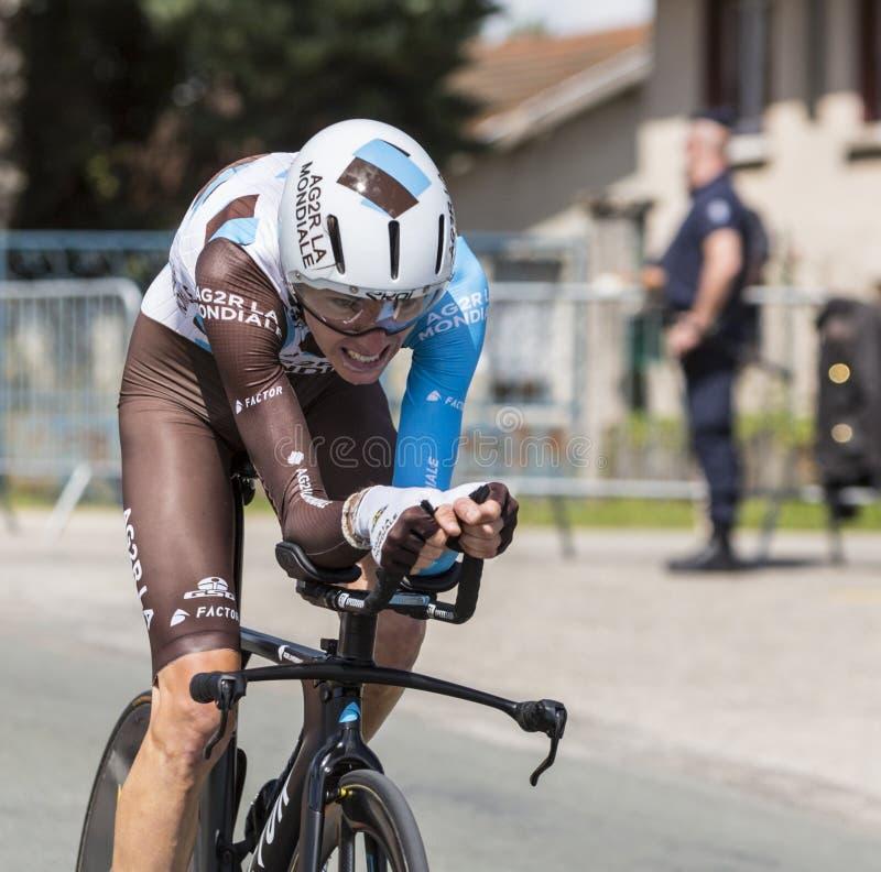 Cyklisten Romain Bardet - Kriterium du Dauphine 2017 royaltyfri foto