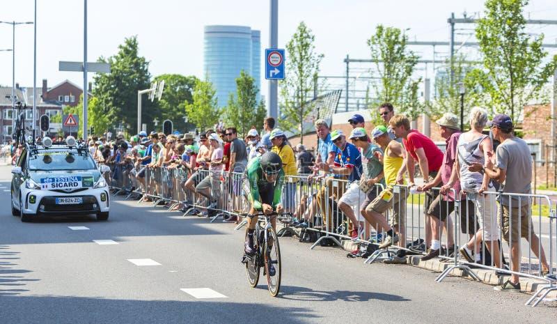 Cyklisten Romain Sicard - Tour de France 2015 royaltyfri bild
