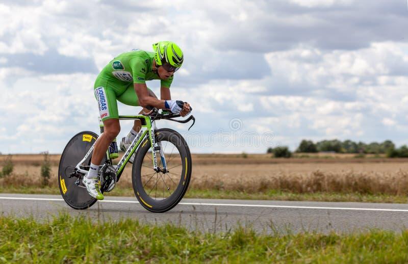 Cyklisten Sagan Peter royaltyfri bild