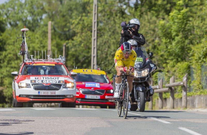 Cyklisten Thomas De Gendt - Kriterium du Dauphine 2017 arkivfoto