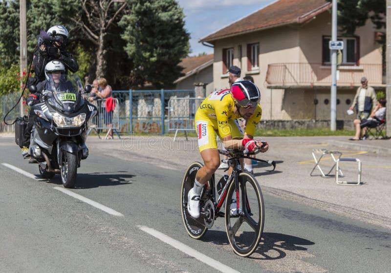 Cyklisten Thomas De Gendt - Kriterium du Dauphine 2017 royaltyfria bilder