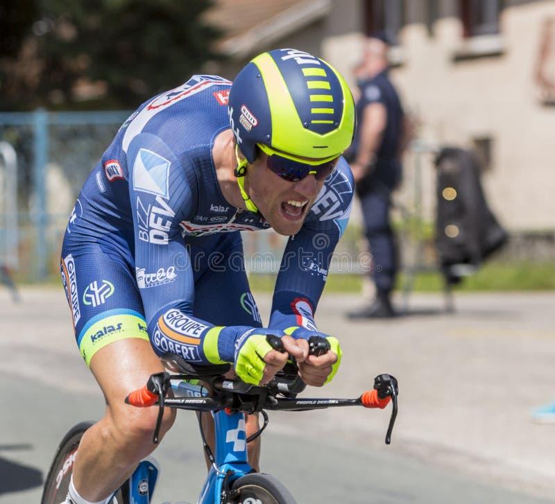 Cyklisten Thomas Degand - Kriterium du Dauphine 2017 arkivbild