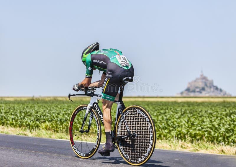 Cyklisten Thomas Voeckler fotografering för bildbyråer