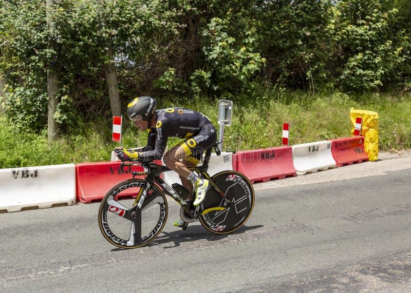Cyklisten Thomas Voeckler - Kriterium du Dauphine 2017 royaltyfri bild