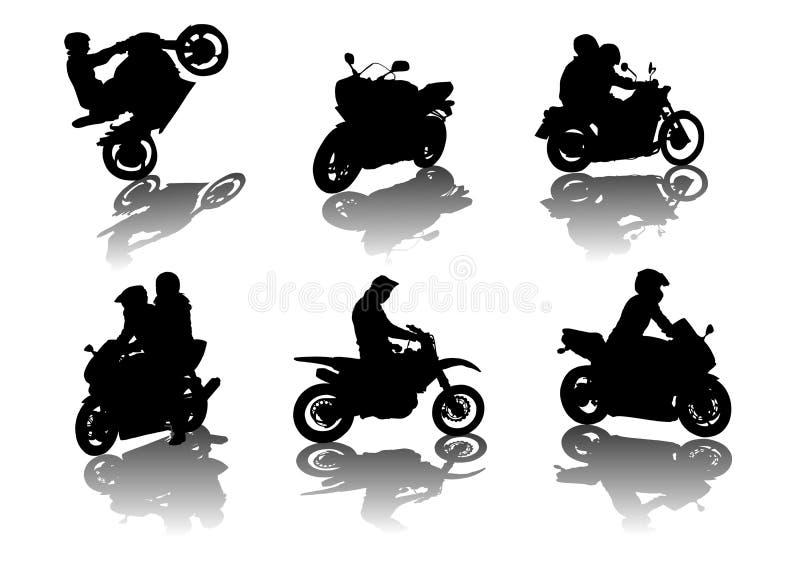 cyklister vektor illustrationer