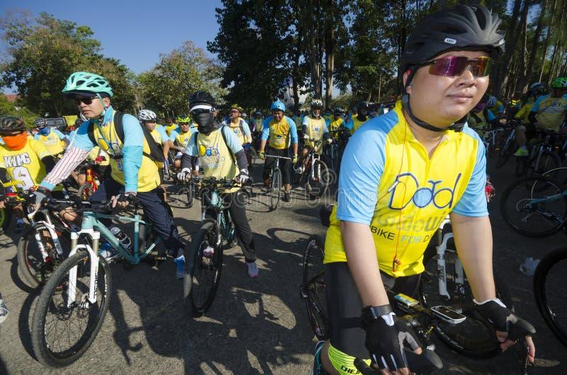 Cyklister på cykeln för farsa fotografering för bildbyråer
