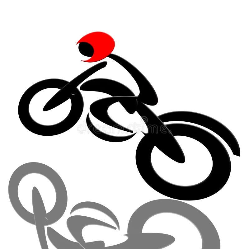 cyklistextreme stock illustrationer
