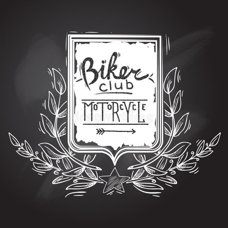 Cyklistklubbaemblem royaltyfri illustrationer