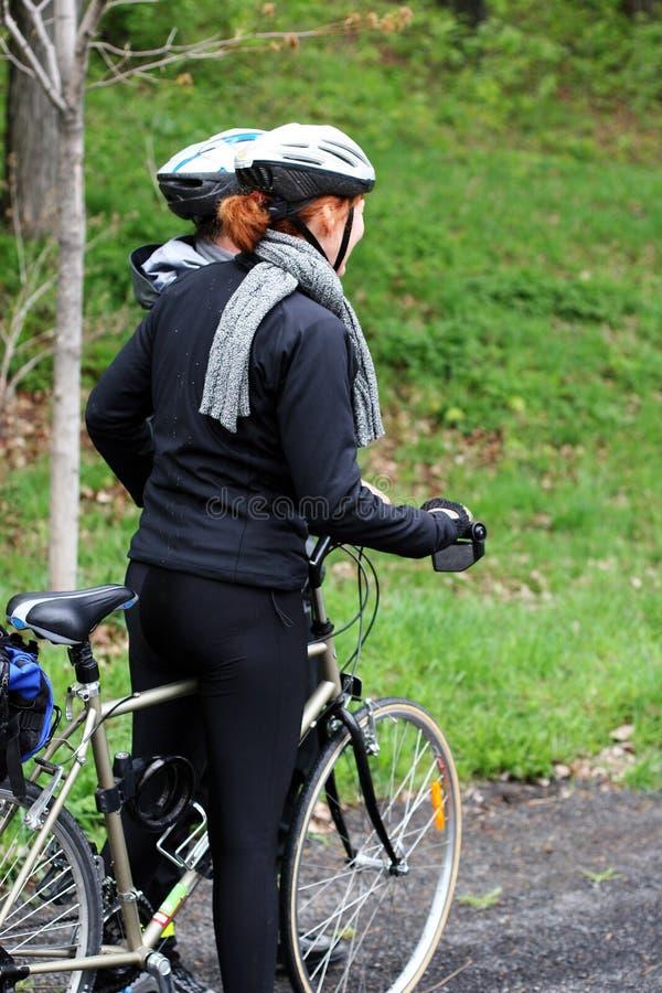 cyklistpar royaltyfria foton