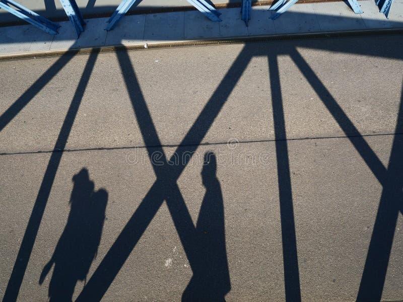 Cyklisty cień obrazy royalty free