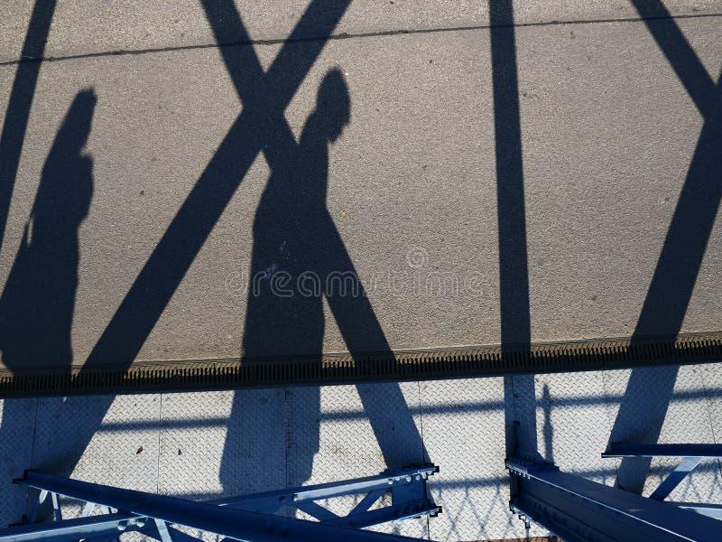 Cyklisty cień zdjęcie royalty free