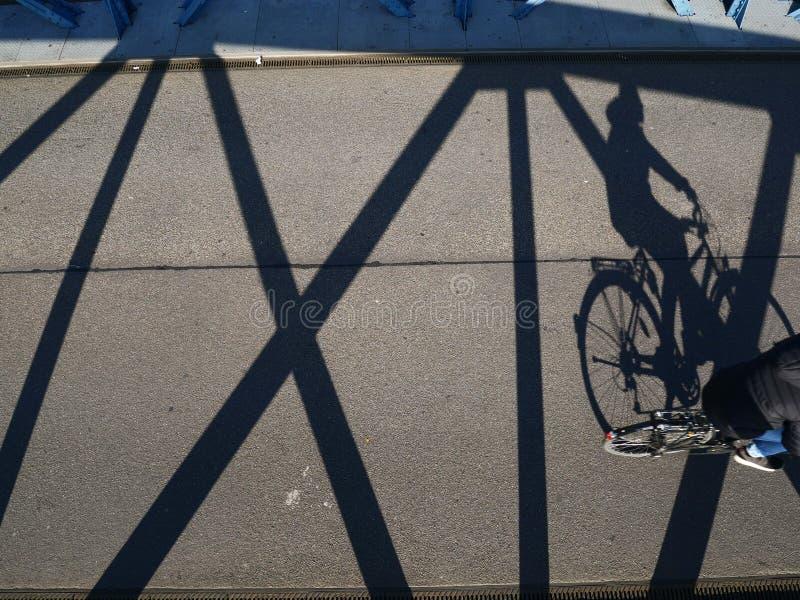 Cyklisty cień obraz stock