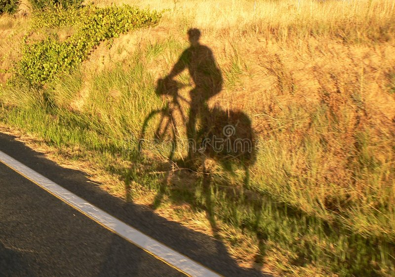 cyklisty cień fotografia royalty free
