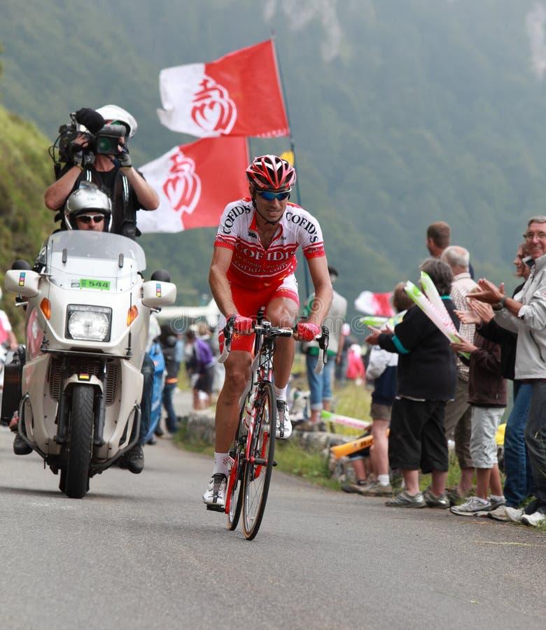 Cyklisty David Moncoutie Zdjęcie Editorial