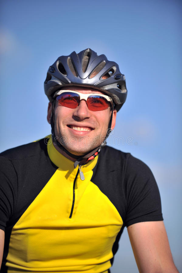 cyklisty portret obrazy stock