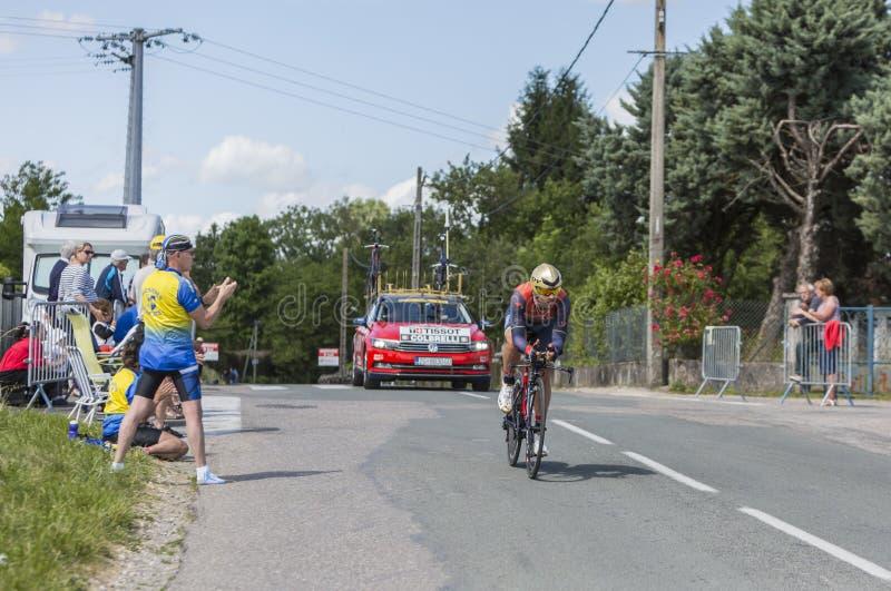 Cyklisty synuś Colbrelli, Criterium - Du Dauphine 2017 zdjęcia stock