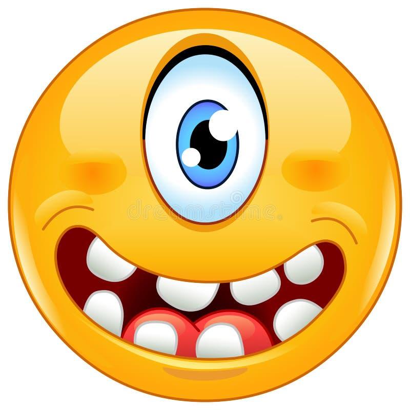 Cyklopa emoticon ilustracji
