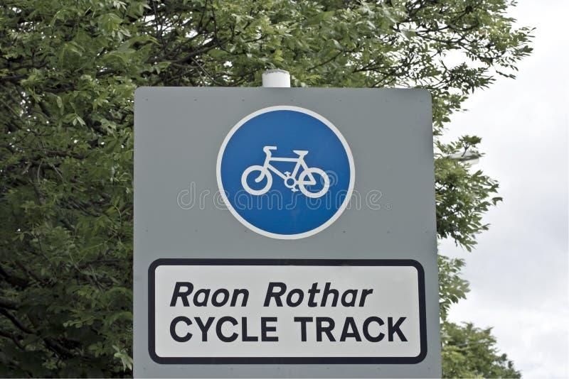 cyklu angielski gaelic znak zdjęcia stock