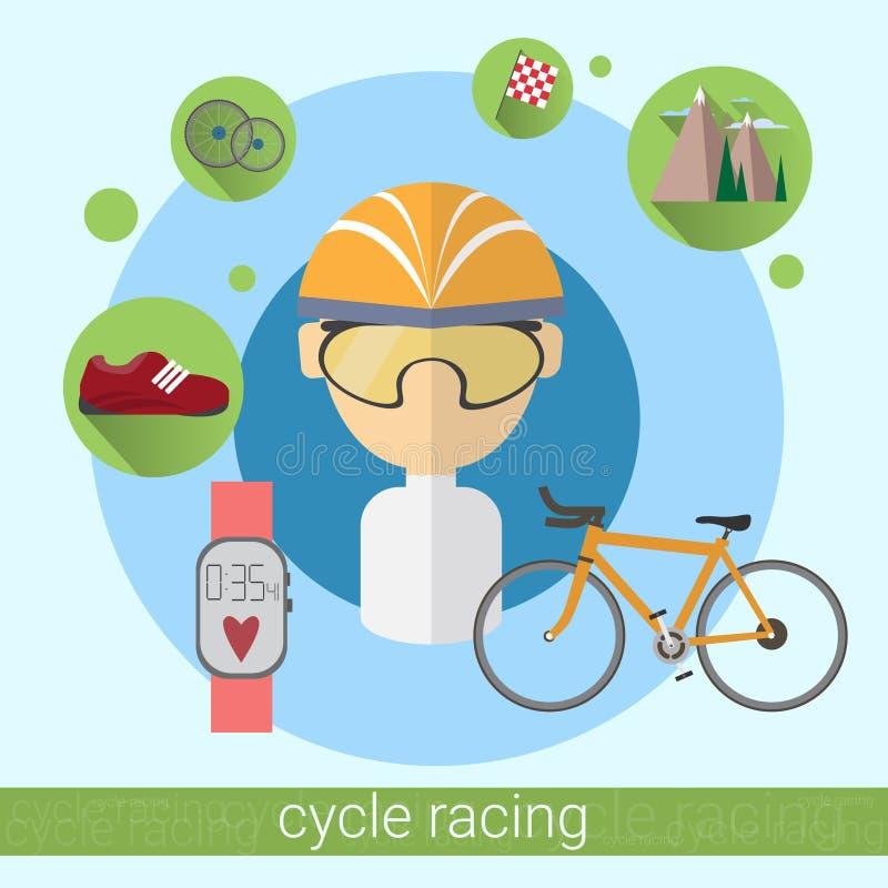 Cyklu Bieżnego mężczyzna sportowa ikona royalty ilustracja