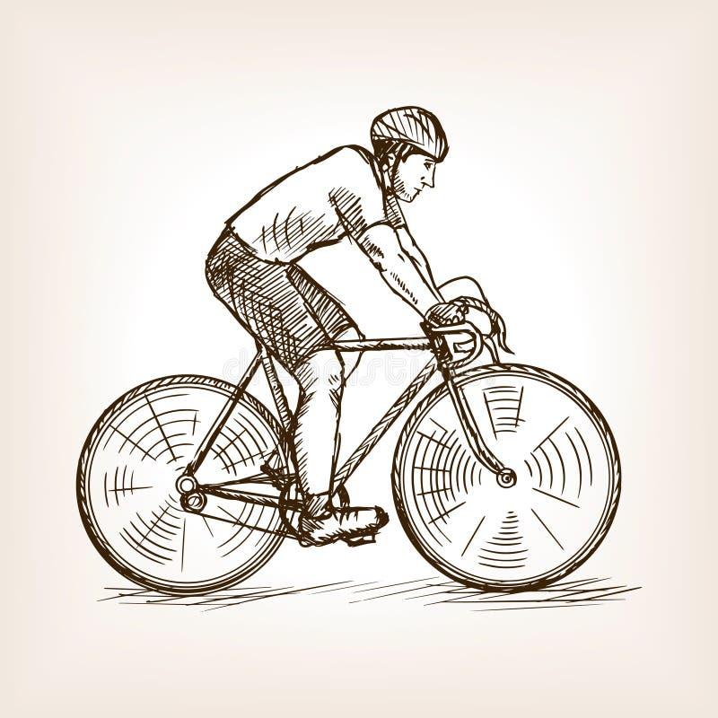 Cyklu setkarz na rowerowym nakreślenie wektorze ilustracja wektor