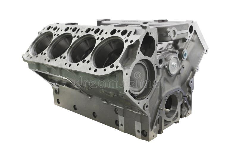 cylinder block of truck engine stock image