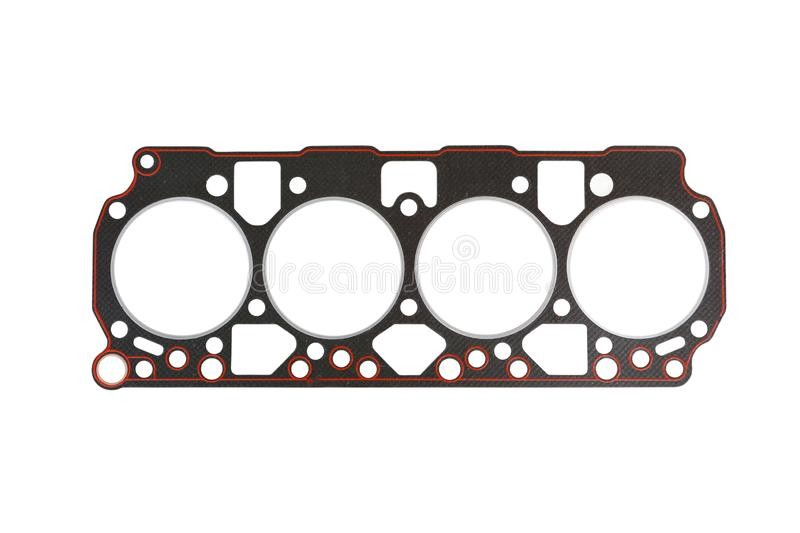Cylinder head gasket. Isolated on a white background royalty free stock photography