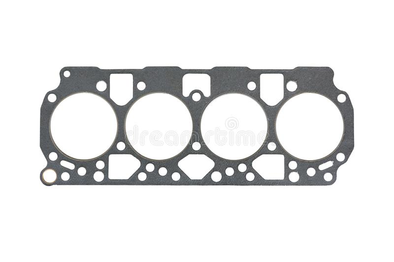Cylinder head gasket. Isolated on a white background stock photo