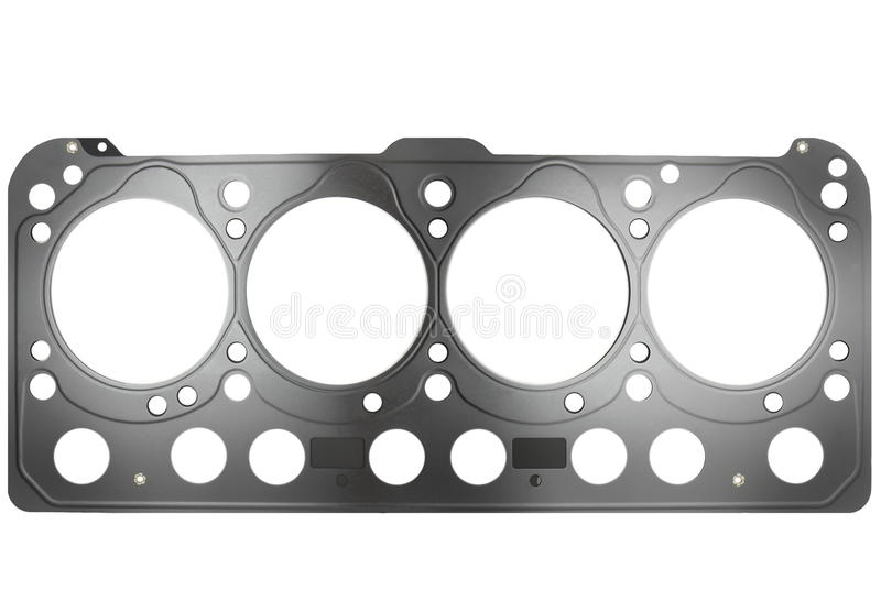 Cylinder head gasket. Isolated on white background royalty free stock photos