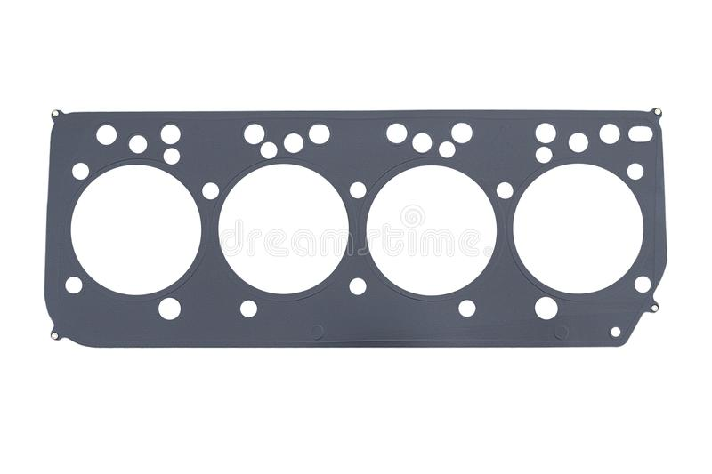 Cylinder head gasket on a. White background royalty free stock image