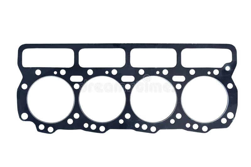 Cylinder head gasket on a. White background stock image