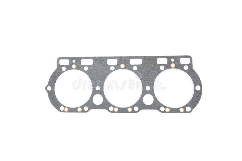 Cylinder head gasket. On a white background royalty free stock photos